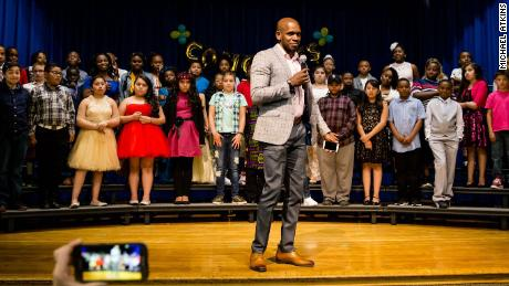Michael Atkins was recently appointed principal of Stedman Elementary School in Denver, Colorado, in a school district where he previously served as a custodian.