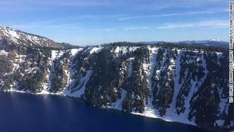 The Coast Guard rescued a man who fell into the Crater Lake caldera in Oregon on Monday afternoon.