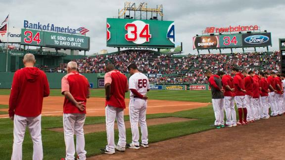The Boston Red Sox held a moment of reflection for former player David Ortiz.