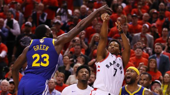 Lowry had a shot to win Game 5 at the buzzer, but it was blocked by Green.