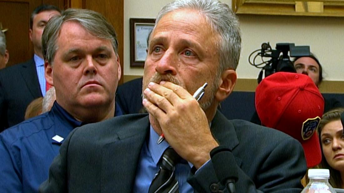 Jon Stewart chokes up and slams Congress over treatment of 9/11 first responders