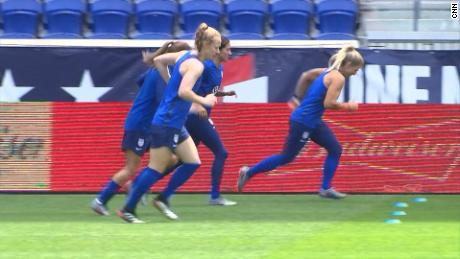 us women's soccer team training