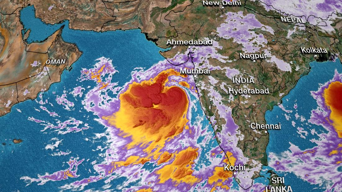 Cyclone Vayu: 300,000 people evacuated in India as tropical cyclone approaches
