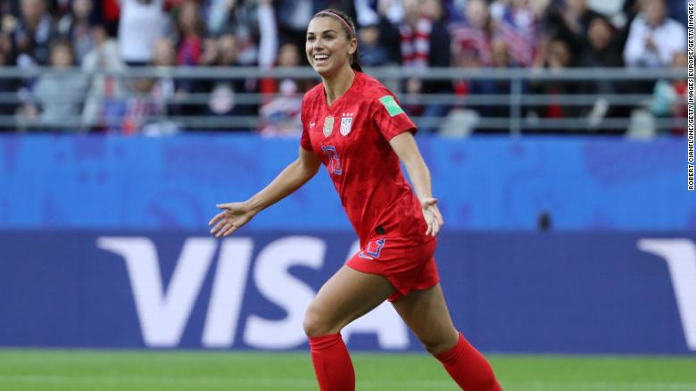 Alex Morgan scored the opening goal as U.S. dominated Thailand.