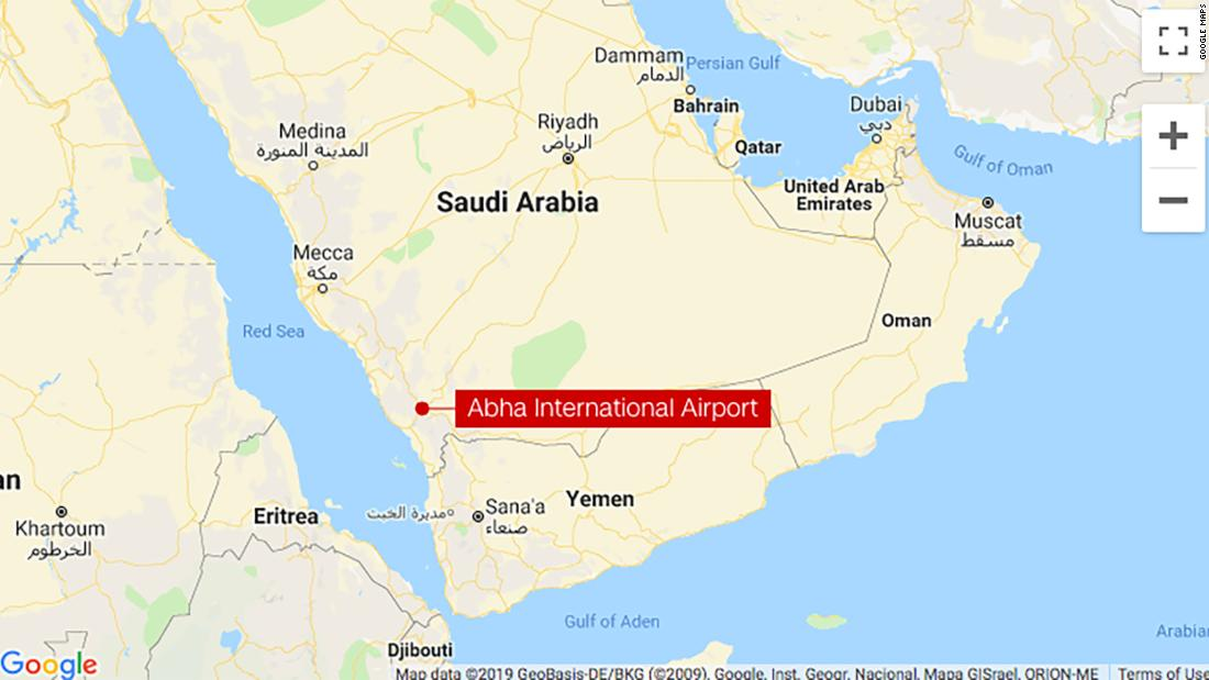 Missile hits arrivals hall of Saudi Arabia airport, injuring 26, official says