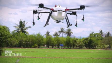 Personal drones spray farmers' crops