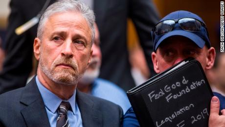 Jon Stewart says 9/11 first responders fund is the 'least' lawmakers can do 'for the best of us' after bill's passage