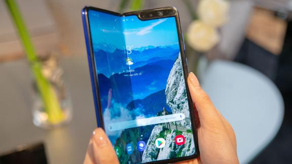 The Samsung Galaxy Fold  smartphone.