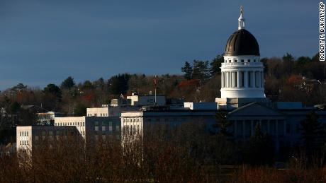 The Maine State House is seen Monday, November 12, 2018, in Augusta, Maine.