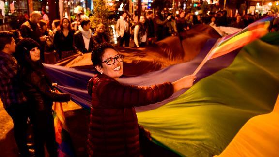 LGBTQ activists in Quito celebrate the court