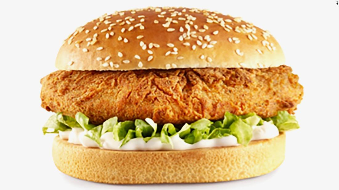 KFC has launched a vegan burger in the UK and Ireland. It is made from Quorn served with vegan mayonnaise.