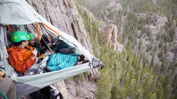 Sleep in a tent on a cliff for $1,000.