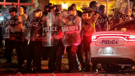 Protests erupted following Wednesday's shooting, prompting local police to respond.