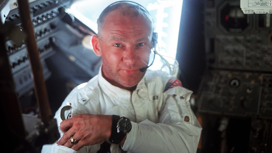 Aldrin was the one who piloted the Eagle lander to the surface. He and Collins are still alive today. Armstrong died in 2012.