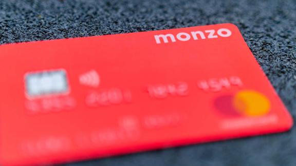 Monzo is known for its brighly colored cards.