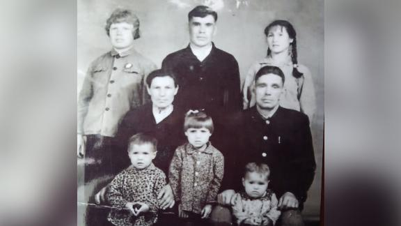 A Petrov family photo taken in 1971. Peter Petrov's father and mother are pictured top row in the middle and on the left.