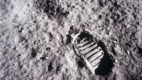 376713 02: (FILE PHOTO) An astronaut's bootprint leaves a mark on the lunar surface July 20, 1969 on the moon. The 30th anniversary of the Apollo 11 Moon mission is celebrated July 20, 1999. (Photo by NASA/Newsmakers)