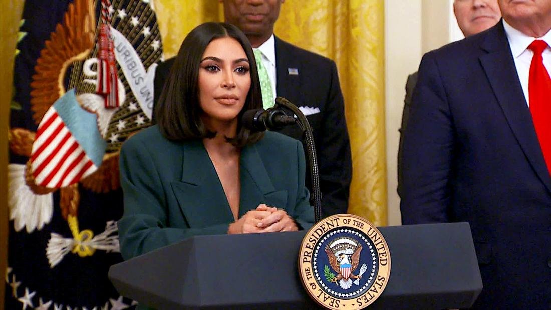Kim Kardashian West at White House on hiring ex-prisoners: 'These people want to work'