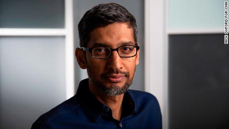 Google CEO Sundar Pichai poses for a portrait at the Mayes County Google Data Center in Pryor, Oklahoma, June 13, 2019. Nick Oxford for CNN