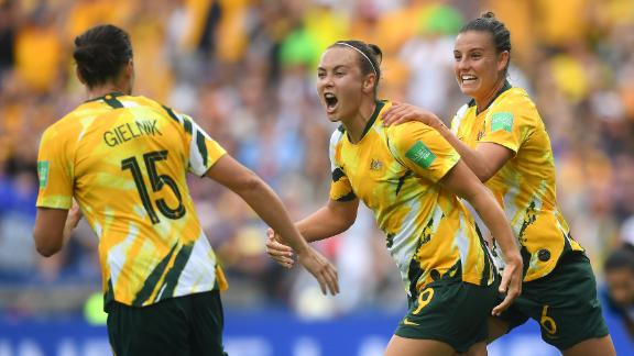 Foord's goal before half-time ensured Australia went into the break with hope.