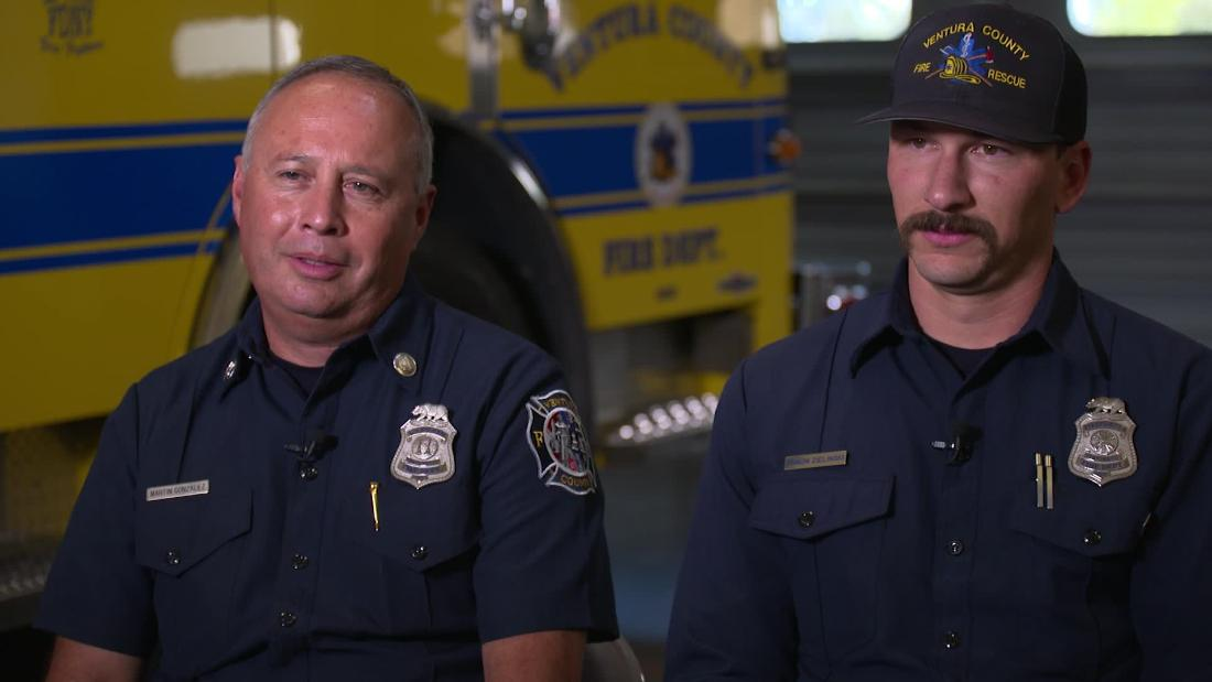 From a mass shooting to a major wildfire, two California firefighters recount a harrowing 24 hours