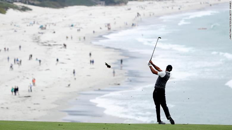 Tiger Woods won the 2000 US Open by 15 shots at Pebble Beach.