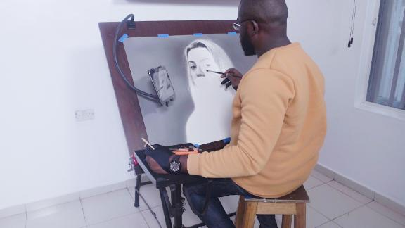 A master of hyperrealism, artist Arinze Stanley's stunning portraits are drawn by hand.