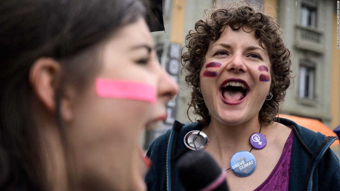 Women across Switzerland are striking for equal pay