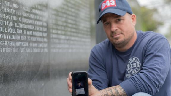 Former firefighter Michael O'Connell at the National September 11 Memorial & Museum.