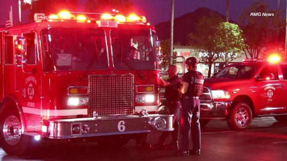 First responders at the fatal shooting in a Corona, California, Costco.