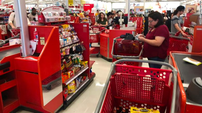 Target customers waited for hours to check out after system outage