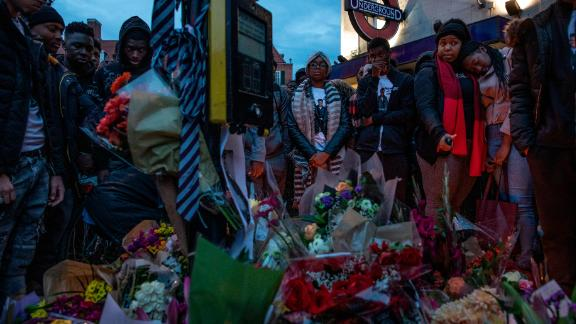 Tributes are paid after a teenager was stabbed in Clapham in November 2018, in a separate incident.