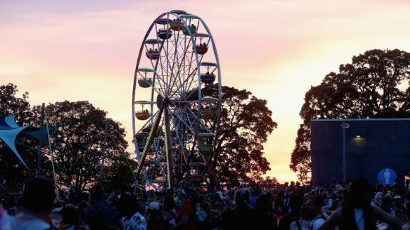 A scene from Day 3 of the Bonnaroo Music And Arts Festival Saturday in Manchester, Tennessee.