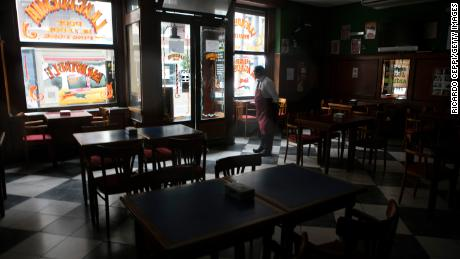 Bars and shops close their doors during the massive energy blackout in Argentina on June 16, 2019 in Buenos Aires, Argentina. A widespread power failure early Sunday morning has left all of Argentina and Uruguay without power, social media users have reported that parts of Brazil, Chile and Paraguay have also been affected. Argentine Secretariat of Energy has stated that Argentina's interconnection system had collapsed.