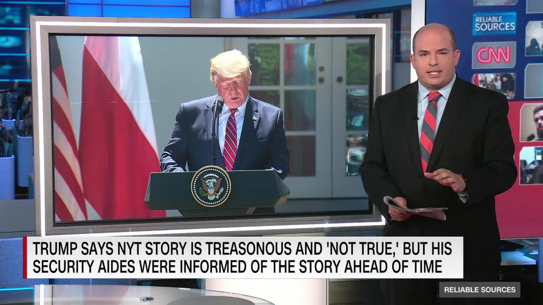 President Trump is suddenly using the word 'treason' a lot