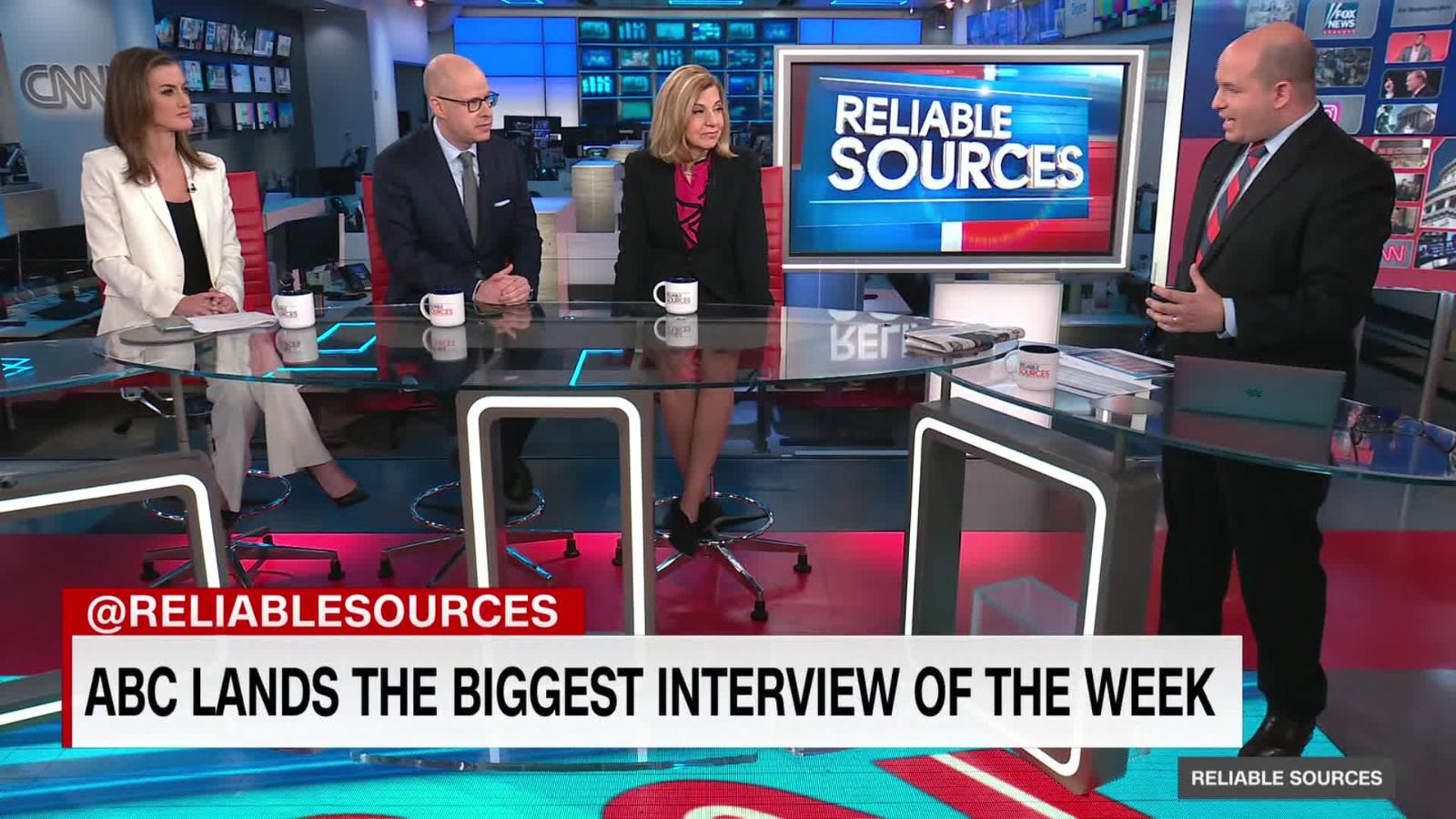 Contrasting Trump's interviews on ABC and Fox Brian Stelter says