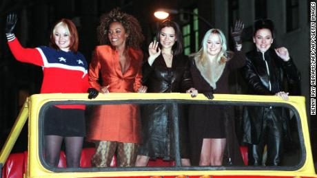 Spice Girls arrive for screening their movie