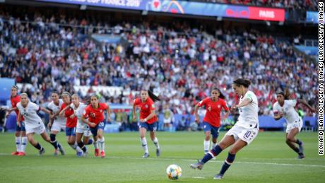 Carli Lloyd missed a penalty and failed to score a hattrick in the process.