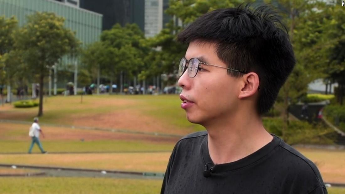 Joshua Wong: Hong Kong people will not keep silent