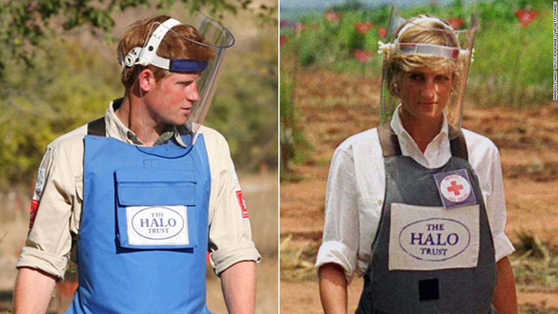Prince Harry picks up Diana's mantle on landmine removal