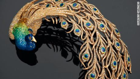 Diamond and Enamel Aigrette