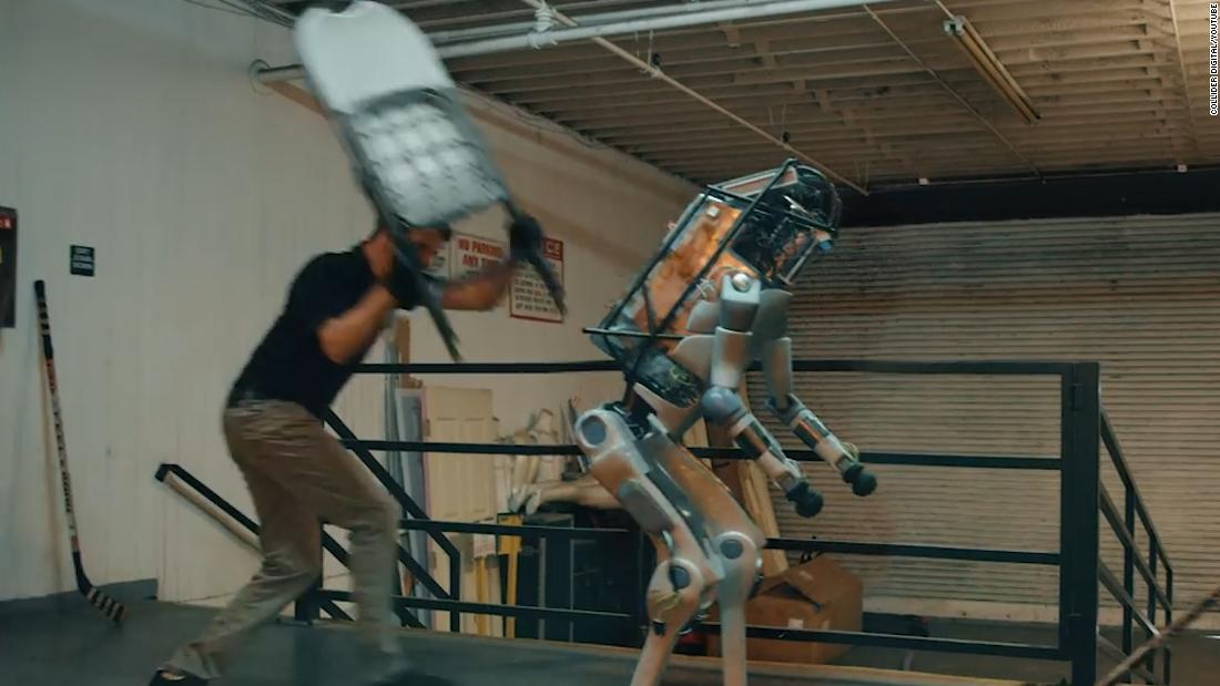 That viral video of a robot being beaten up isn't real