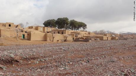 Cluster of brick houses where Karimi lives.