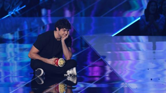 Noah Centineo accepts the award for best breakthrough performance for 'To All the Boys I've Loved Before'