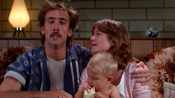 """""""Raising Arizona"""" The Coen brothers were only on their second film when they crafted this criminally funny comedy about an oddball couple -- played by Nicolas Cage and Holly Hunter -- who turn to a desperate act to start a family. The Coens """"have the same equipment and the same playing field (as other filmmakers), and to take that and to make something fully aesthetically different than anything you"""