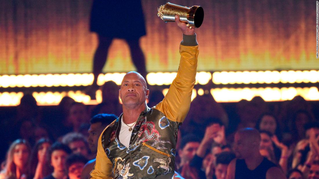 Dwayne Johnson's MTV Movie & TV Awards speech is proof he's a really nice guy