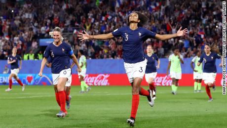 Renard celebrates scoring the winning goal.