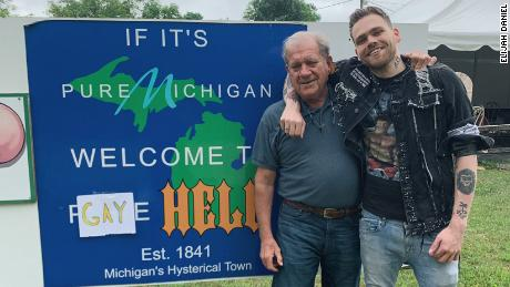 Youtuber Elijah Daniel with John, who rules hell.