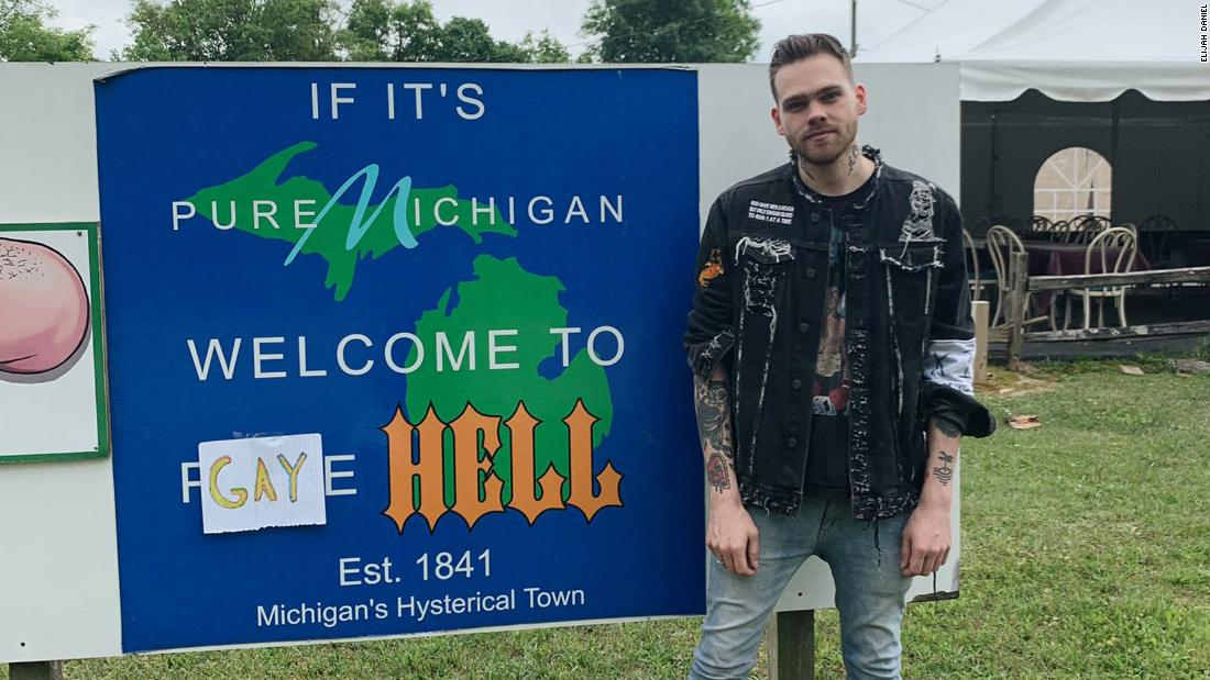 Welcome to Gay Hell, Michigan, where only pride flags are allowed to fly
