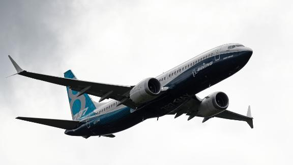 Boeing 737 Max takes part in a flying display at the Farnborough Airshow, south west of London, on July 12, 2016.  / AFP / ADRIAN DENNIS        (Photo credit should read ADRIAN DENNIS/AFP/Getty Images)